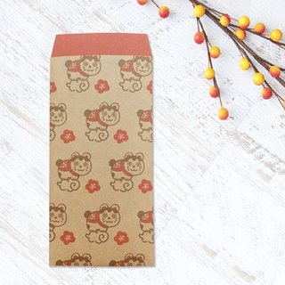 Japanese Gift-Money Envelopes of kraft paper - Fortune Cat -
