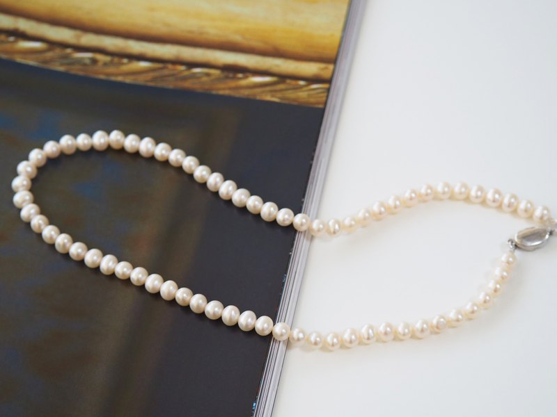 Natural Pearl Necklace • Temperament Choice | Bridal Gifts • With Gift Wrap