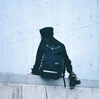 Rider Backpack Leather Black
