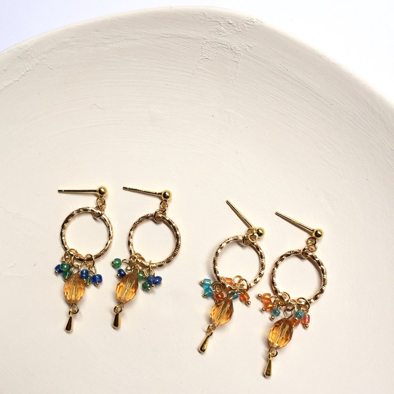 Custom Dangle Color Fruit Earrings Ear Clip