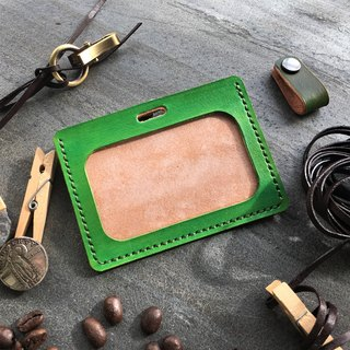 Hin window leather art - handmade leather - horizontal identification card sets of hand-made vegetable tanned chrome tanned customized custom Wen-ching