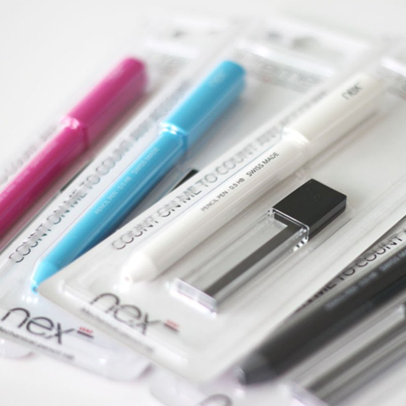 PREMEC | NEX LEAD Swiss Automatic Pencil Set Happy Four Color Sharing Combination