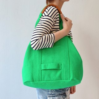 Kurashiki canvas tote bag - Paradise green