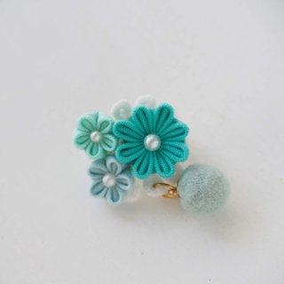 Cute Mint Fabric Floral Corsage, Brooch custom
