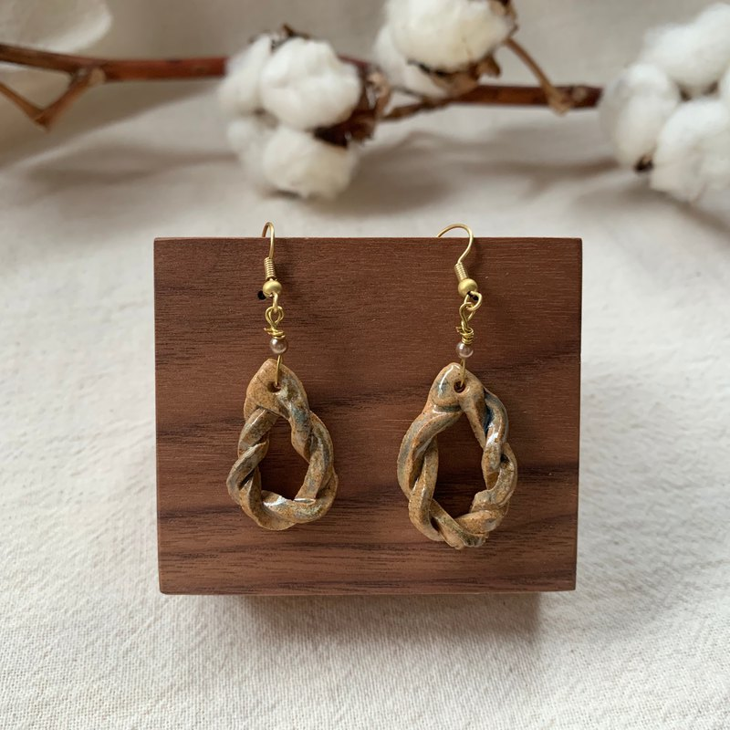 Clay twist earrings 3