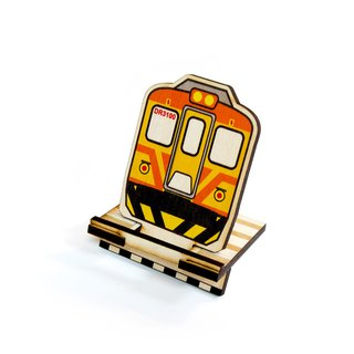 Taiwan Railway Chai Lian Ziqiang DR3100 × Ray Wood DIY Phone Stand [Work hard. For that trip on the railway. 】Card Holder × Note Paper × Office cash register utility