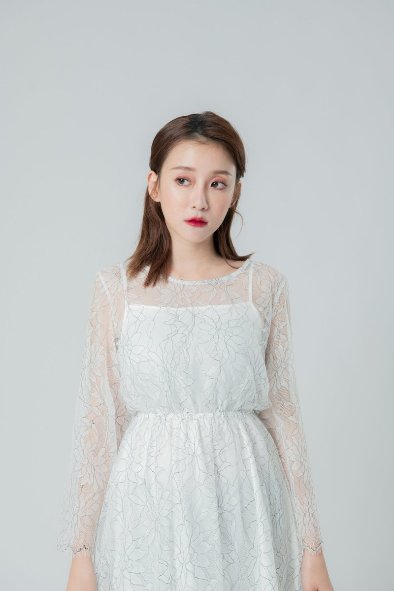 Leona White Lace Dress