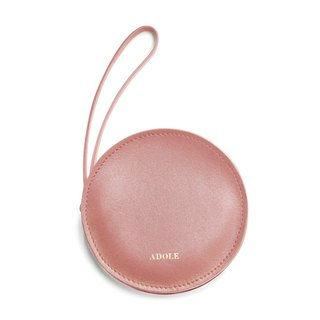 【ADOLE】 sandwich purse / smoked pink