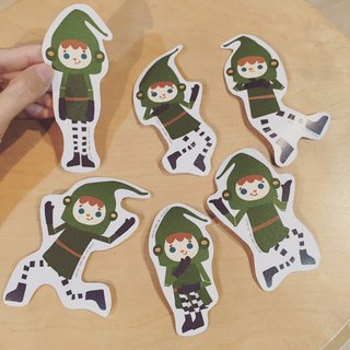 Two hands two hands! Green Mail pounds fine thick waterproof stickers Asking% discount!