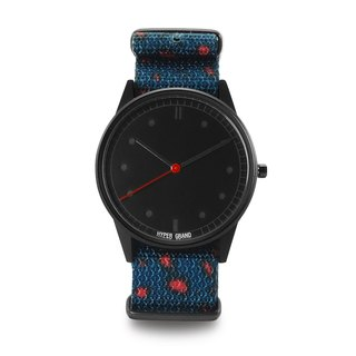 HYPERGRAND - 01 Basic Collection - MILIBAND LEOPARD Blue-Red Leopard Watch - Black dial