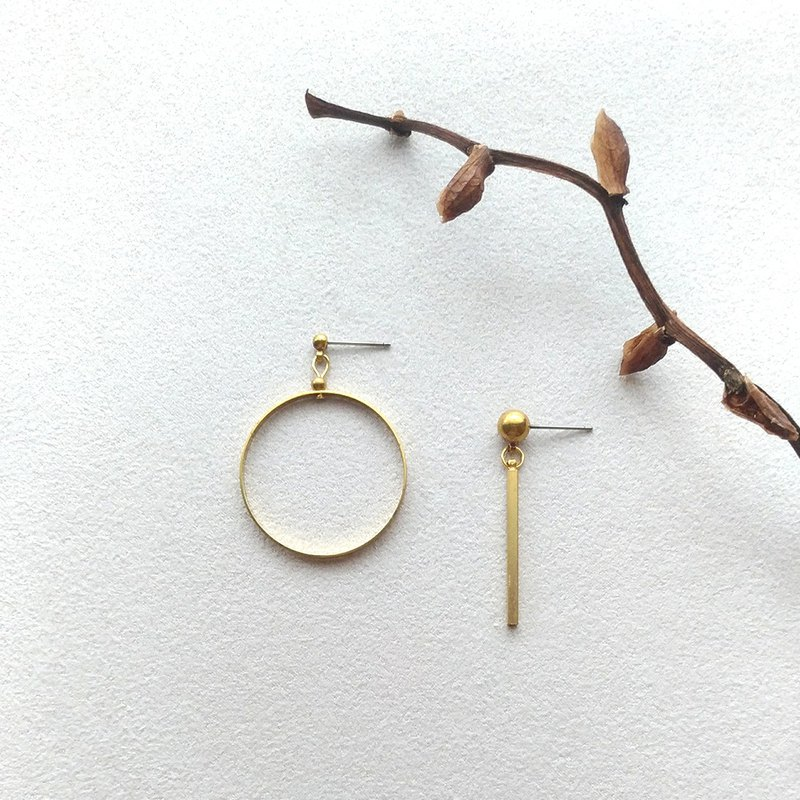 E059-0 and 1-Brass Pin Clamp Earrings