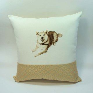 Large embroidery pillow cover 07- Shiba Inu