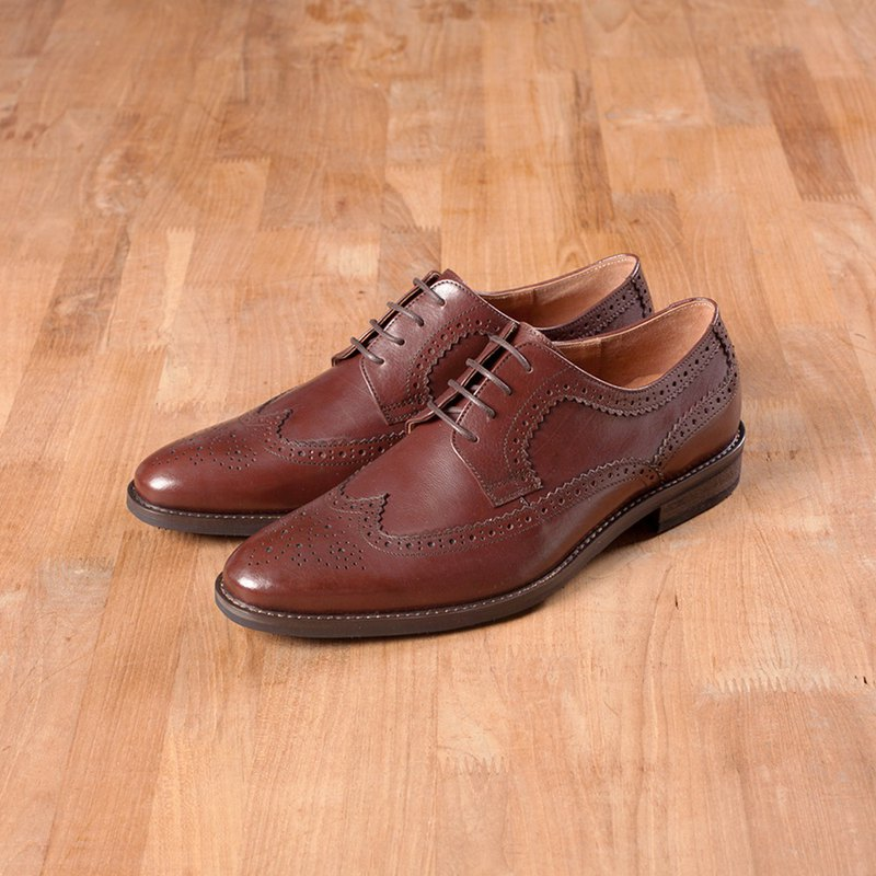 Vanger Jagged Long Wing Derby Gentleman Shoes-Va261