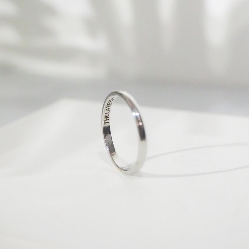 THE LAYERS Personalized Engraved Minimal 925 Sterling Sliver Line Thin Ring