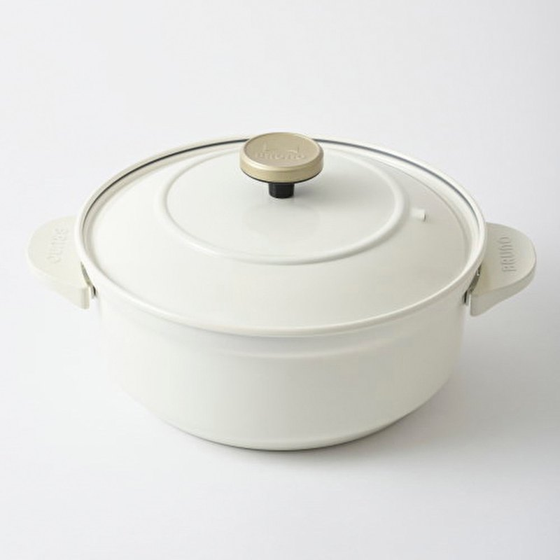 Japan BRUNO Universal Conditioning Pot - Pot (White) Can be directly fired