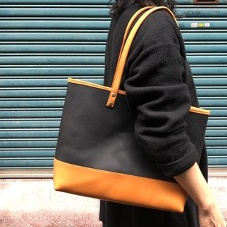 Stitching retro tote bag / handbag / shoulder bag