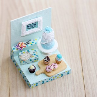 Pocket scene marriage card Miniature Happy Wedding Party