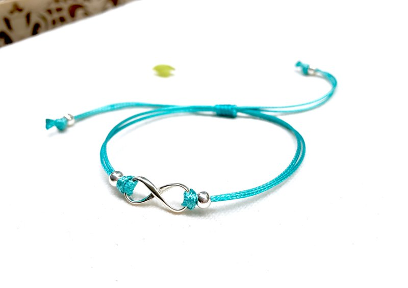 【 925 sterling silver】 Infinity Bracelet (むげんTiffany Green)