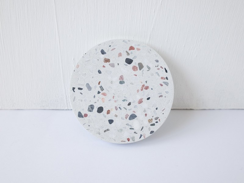 No Sight Room│The only Wuxi rosestone white terrazzo cement coaster