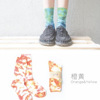 Tie Dye socks (orange, yellow)
