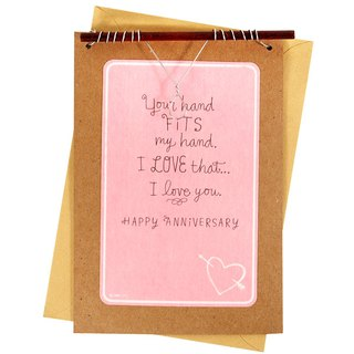 True love is a far deeper thing than ''hand in hand'' [Hallmark-an anniversary card for creative hand-made cards]