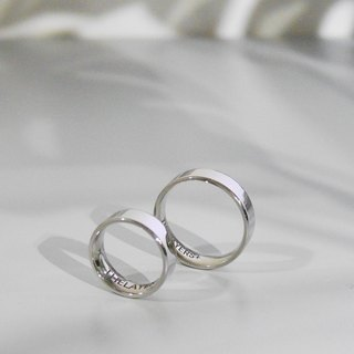 Lettering 925 sterling silver couple ring MINIMALIST RING simple glossy custom name