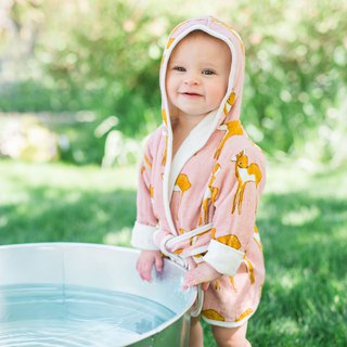 MILKBARN Organic Cotton Hooded Bathrobes - Practical and Comfortable