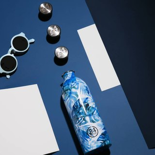 24Bottles Limited Floral Collection SS18 - Urban Bottle Azure 1000ml