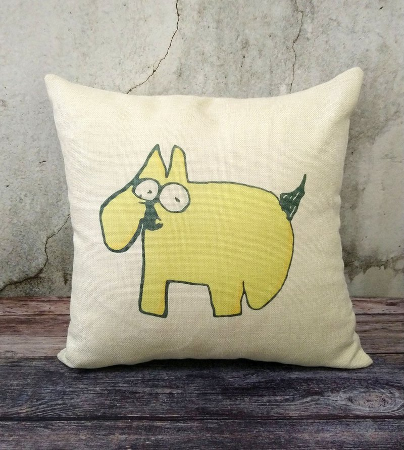 (Spot merchandise) Are you looking at me? Environmental protection cotton and linen pillowcase ~ without pillow