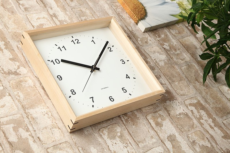 KATOMOKU muku square wall clock km-37N