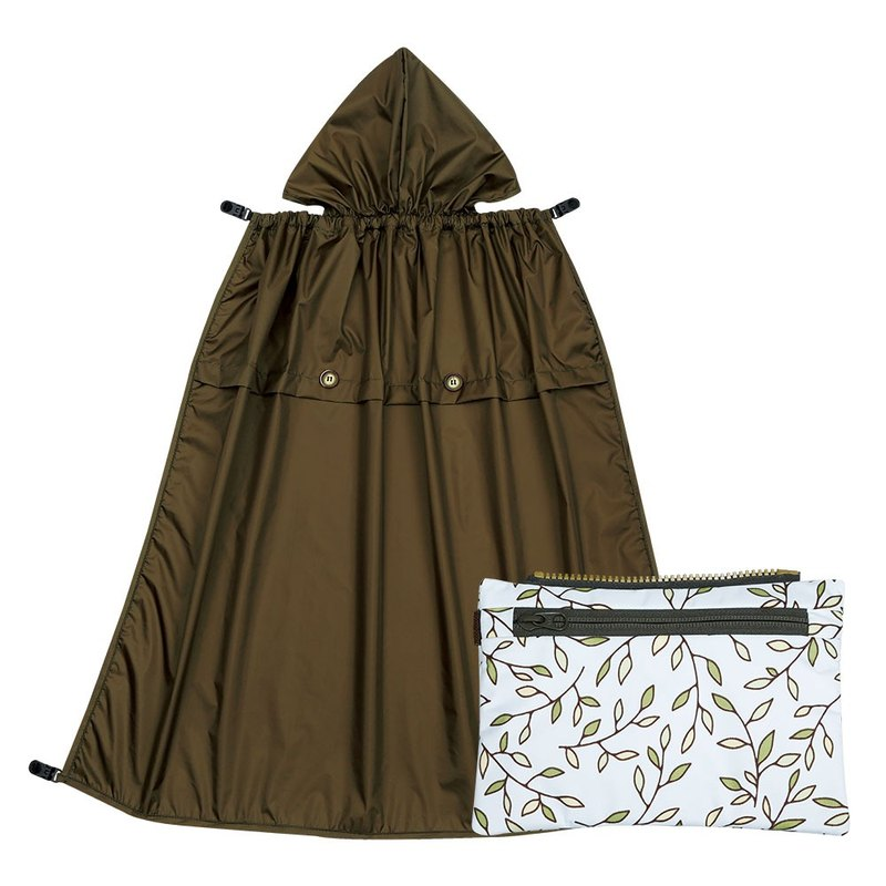 All-Seasons Rain Cover with Detachable Zippered Pouch - Italian Manor