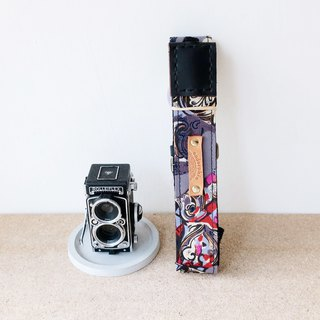 【Endorphin】 handmade camera strap leather + cotton + metal buckle + customized leather printing (limited edition)