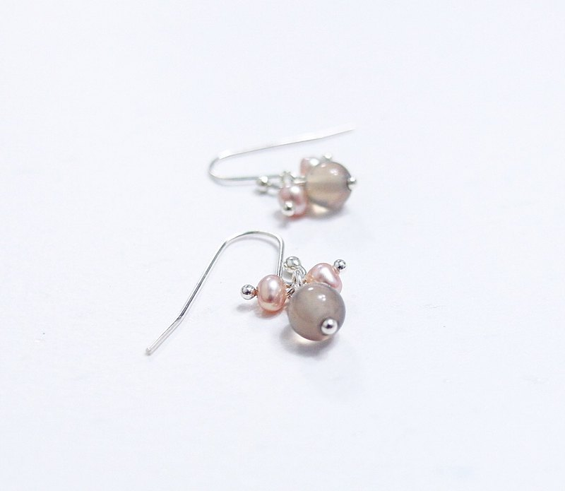 Mini Natural Gemstones Small Orange Moonlight Lime Agate 925 Sterling Silver Earrings Gifts