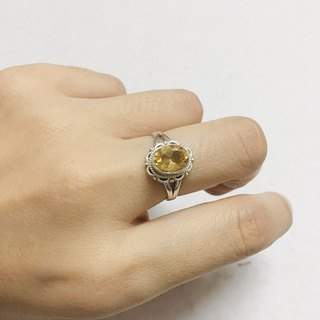 Citrine Finger Ring Handmade in Nepal 92.5% Silver