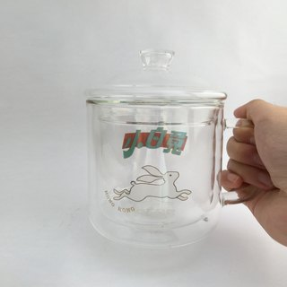 Double insulated heat-resistant glass / tea cup / coffee cup - <Little White Rabbit>