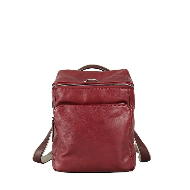 Cosmopolitan Lightweight Sheepskin Fashion Backpack - Purple [sample clear]