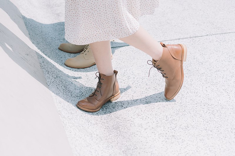 [New Products] Plain Derby Ankle Boots Caramel Coffee