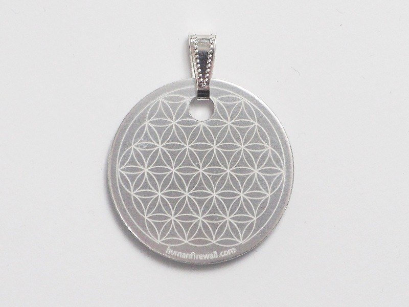 Anti-Electromagnetic Radiation Pendant - Flower of Life (Silver)
