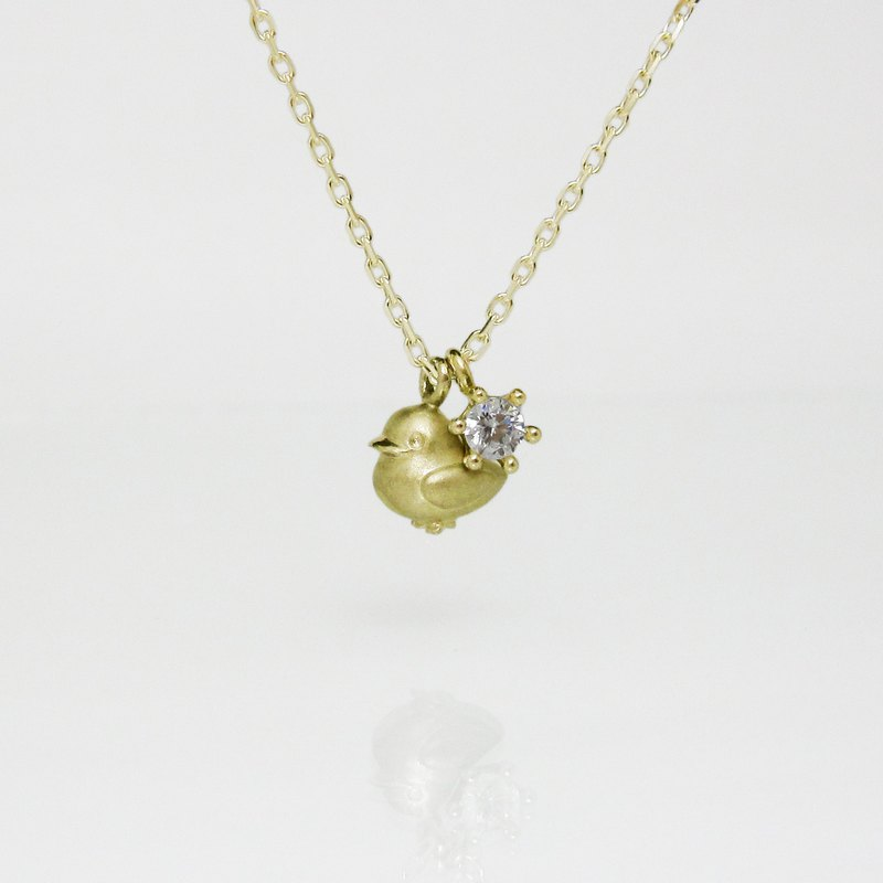 【 Hans.Jr 】 K18 Duckling & Diamond Pendant