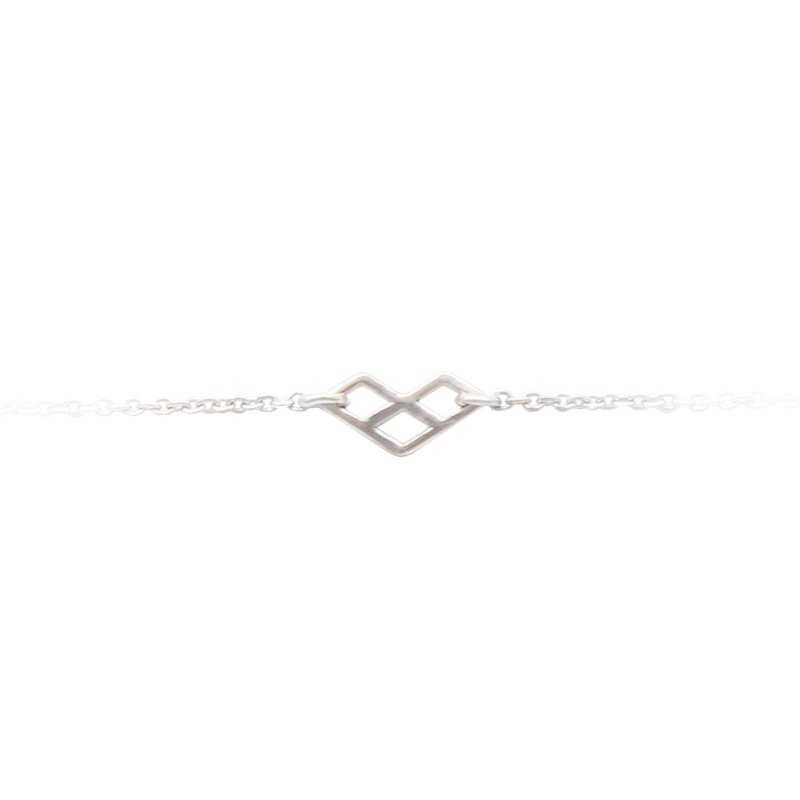 Bibi Fun Series-Geometric Series-Listen! Sterling Silver Necklace (Free Shipping by Mail)