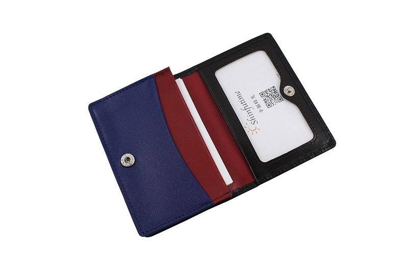 LAPELI │ Mixed color card holder Black / Blue & Red & Deep Coffee