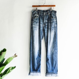 River water mountain - levis 523 / W32 Saga whale dolphin ocean wave wave log cotton tannin antique straight trousers antique denim pants vintage