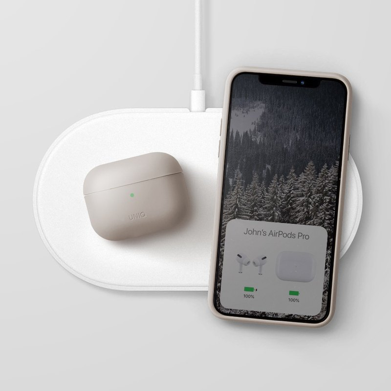 AirPods Pro Lino Liquid Silicone Bluetooth Earphone Case-Beige