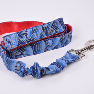 Novice parents combination collar + buffer dog leash and wind fifty-tone collar + wave buffer leash