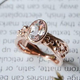 Morgan Stone Rose Gold Ring