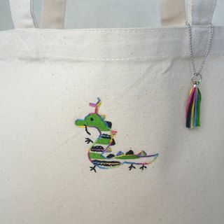 "the oriental zodiac Tote bag with hand embroidery ""dragon"" [order-receiving production]"