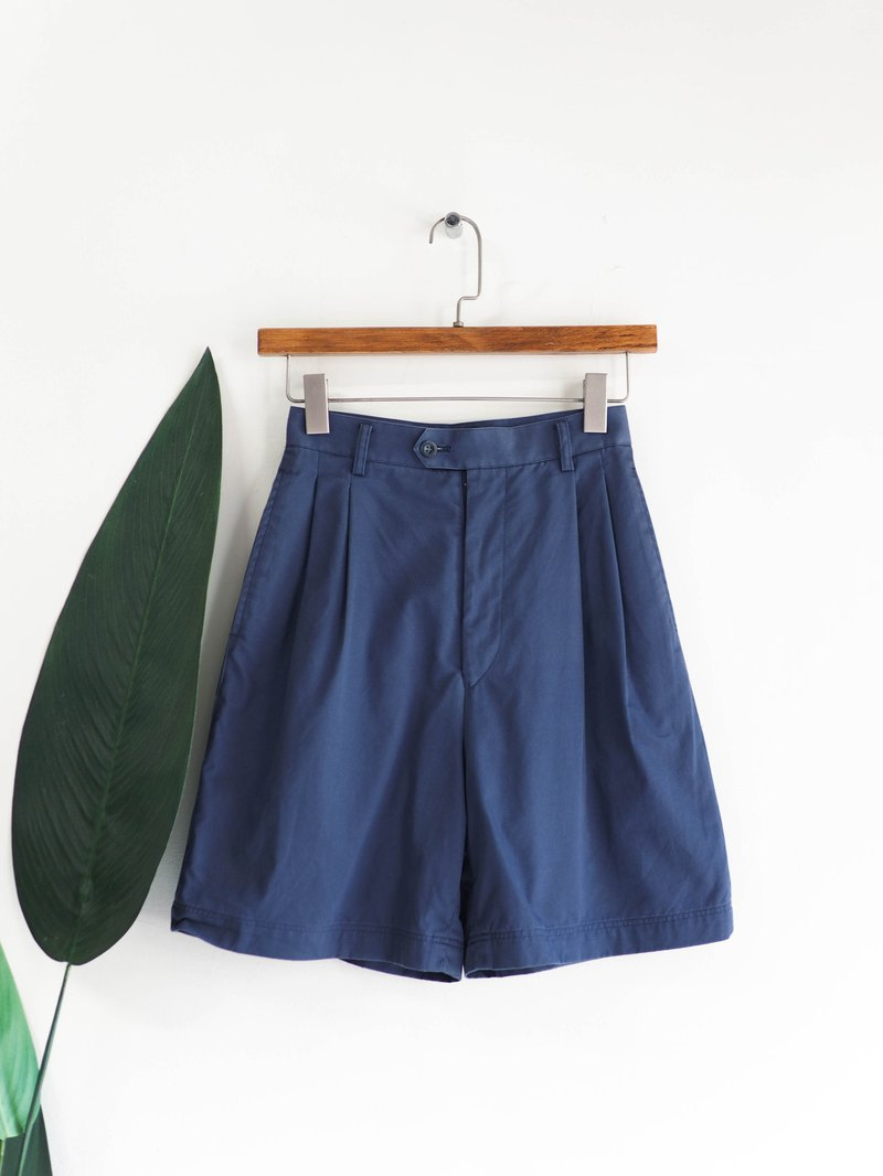 Morandi Blue Face Youth Love Day Zha Antique Cotton Wide Shorts Suit Pants vintage