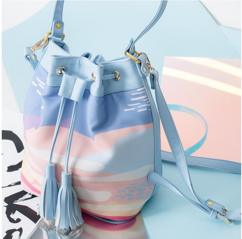 BUCKET BAGS / 5 Color, Blue, Pink, White, Black