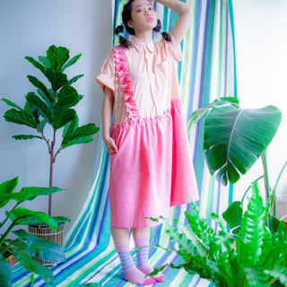 Pink wave remake shirt dress