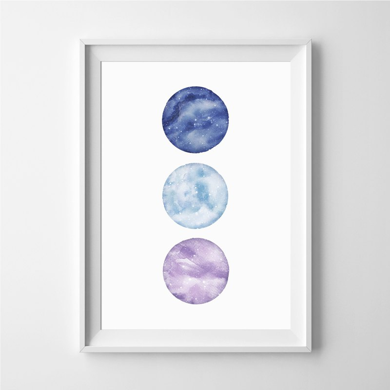 Moon print #4 Customizable painting poster